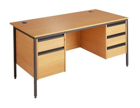 Maestro Pedestals Maestro Straight Desk With 2 Amp 3 Drawer Fixed Pedestals