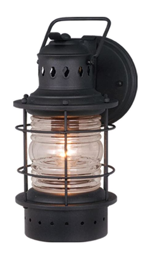 Nautical Themed Outdoor Lighting Hyannis 5w Outdoor Wall Light Sconce Nautical Textured Black Vaxcel Ow37051tb Ebay