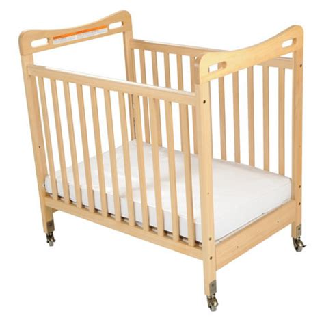 Crib Saftey by Safe Sound Fixed Side Clearview Compact Crib