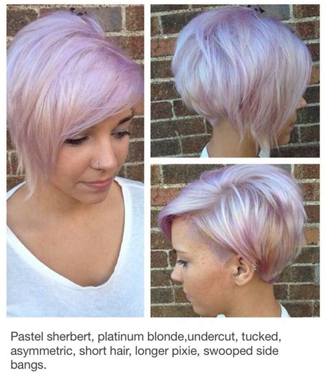 one sided hair loss chopped in women like the side angle showing the back style pinterest