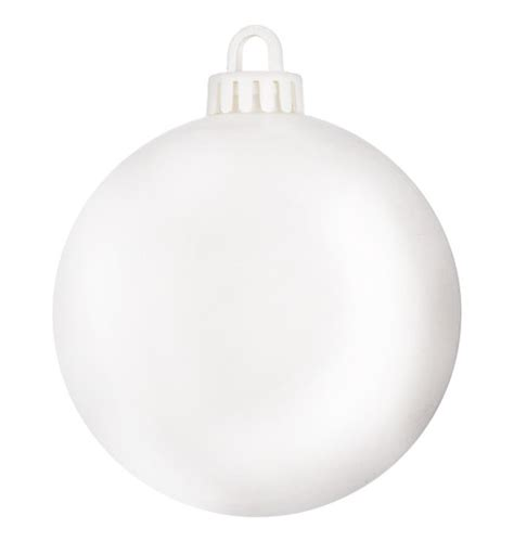 250mm matt baubles optic white dzd