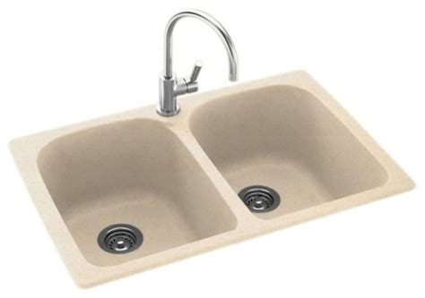 Swan Swan 33x22x10 Solid Surface Kitchen Sink 1 Hole Solid Surface Kitchen Sinks