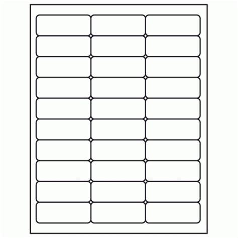 avery 5260 template word 1 quot x 2 5 8 quot white laser inkjet address sheet label ml