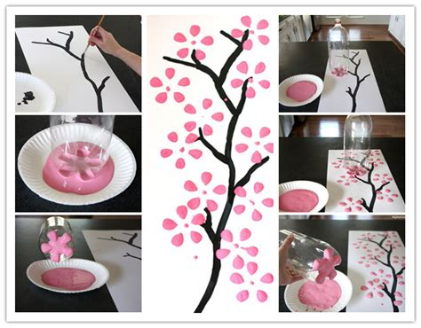 soda bottle flower painting how to paint cherry blossom canvas art with recycled soda