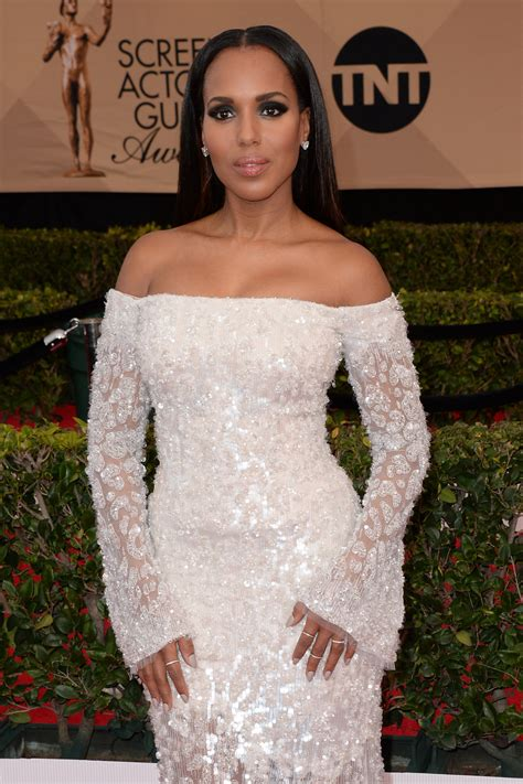 Roberto Cavalli At Hm Goes Just As Nuts In New York by Kerry Washington In Roberto Cavalli Couture At The Sag