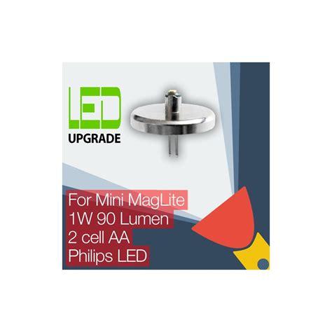 upgrade maglite mini maglite led upgrade conversion bulb 2aa cell philips led