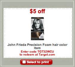 frieda hair color coupon frieda precision foam haircolor money maker at target
