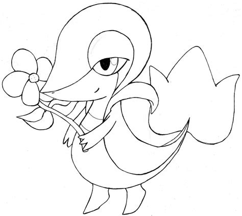 pokemon coloring pages of snivy pokemon snivy coloring pages images pokemon images