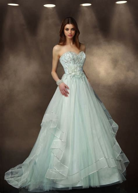 mint green wedding dresses for summer 2014 arabia weddings
