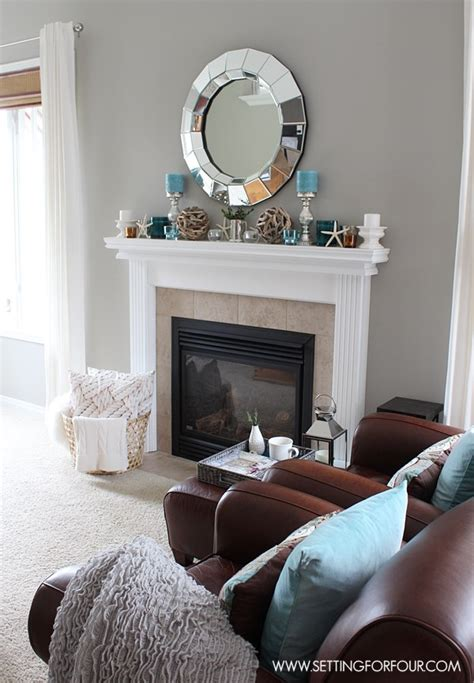 mantel decorating tips mantel decor ideas blue taupe and white palette