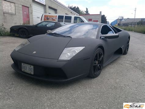 matte black matte black murcielago wrapped in canada autoevolution