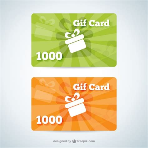 Gift Card Template Ai by Gift Card Templates Vector Free