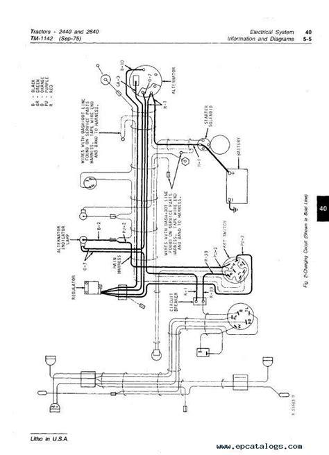 wiring diagram for 2640 deere alternator deere