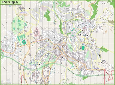 map of perugia italy large detailed map of perugia
