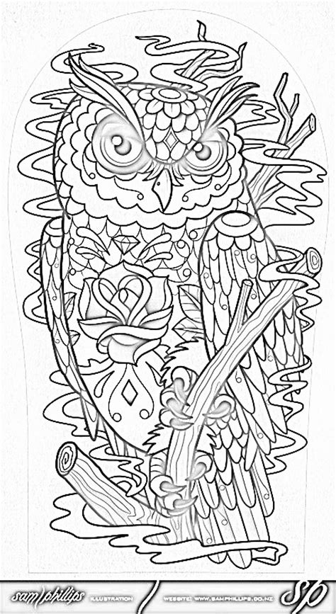 day of the dead owl coloring pages coloring on pinterest coloring pages adult coloring