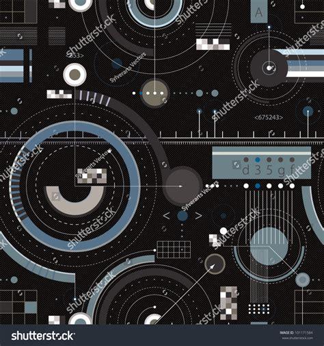 engineering pattern background engineering draft seamless pattern geometric vector stock