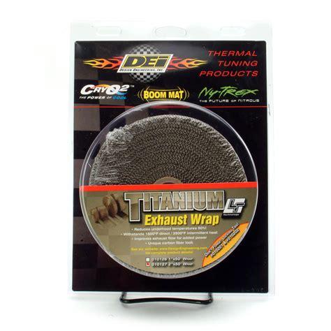 design engineering header wrap design engineering dei 010127 dei 2 quot titanium exhaust