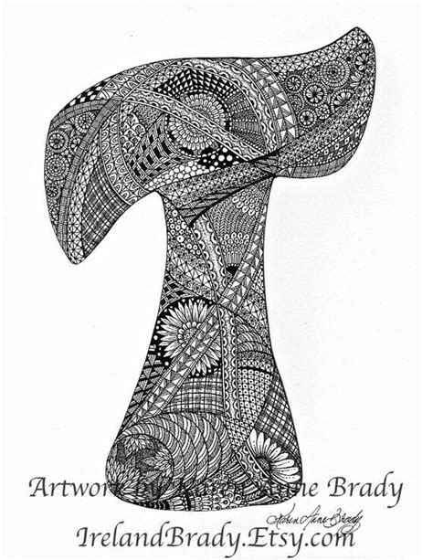 doodle inisial aceo alphabet letter t zentangle doodle initial by
