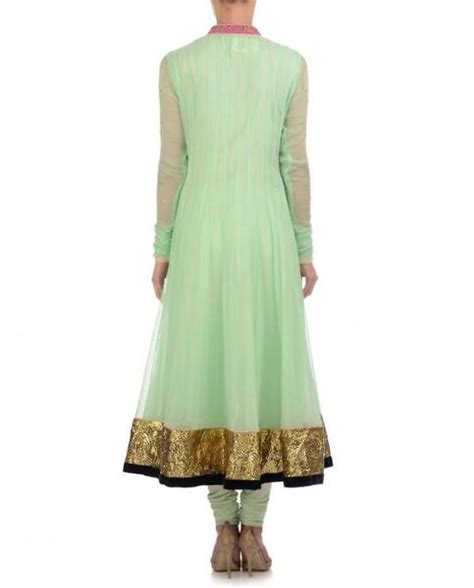 pista green color pista green color long anarkali suit panache haute couture