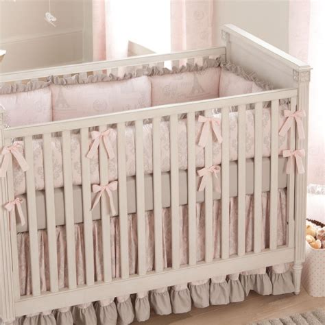 girl baby bedding paris script crib bedding pink and gray baby girl crib bedding carousel designs