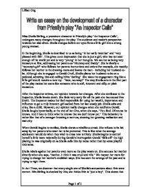 The Inspector Calls Essay by An Inspector Calls Eric Birling Essay