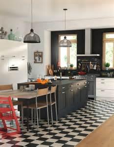 Table De Bistrot Ikea #1: Un-ilot-de-cuisine-noir.jpg
