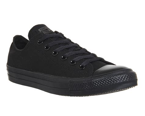 converse all low black mono canvas unisex sports