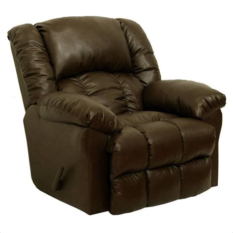 catnapper leather recliners catnapper winchester bonded leather chaise rocker recliner