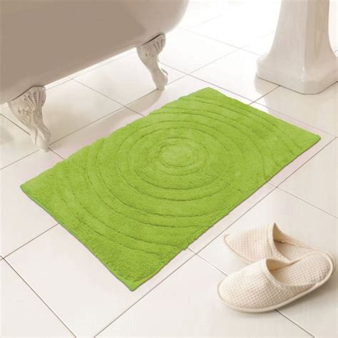 Bathroom Rugs Lime Green 100 Cotton Bath Mat Rug Lime Green Tonys Textiles