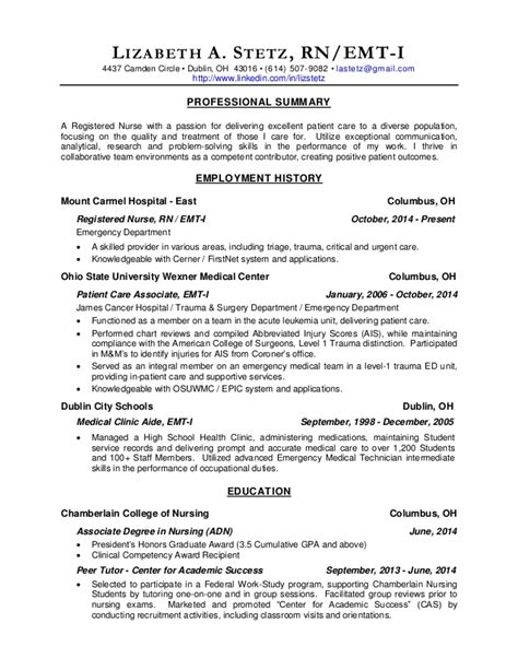 Registered Resume Skills Rn Resume