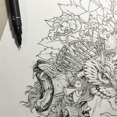 imagenes animales geometricos intrincados dibujos de animales que se funden con figuras