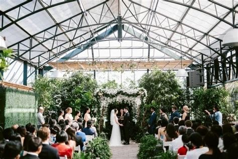 Lush Greenhouse Wedding Ceremony at the Planterra