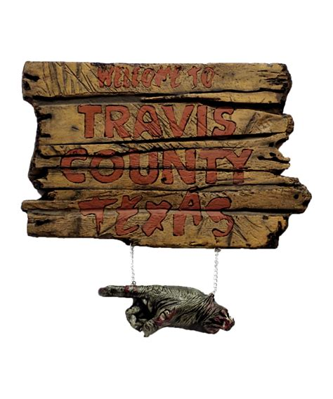 Travis County Search The Chainsaw Travis County Sign Props Decorations