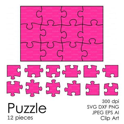 puzzle pattern ai puzzle 12 pieces svg dxf eps ai png vector digital