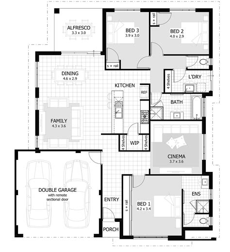 own network home design 3 bedroom house plan with double garage 2 bedroom house
