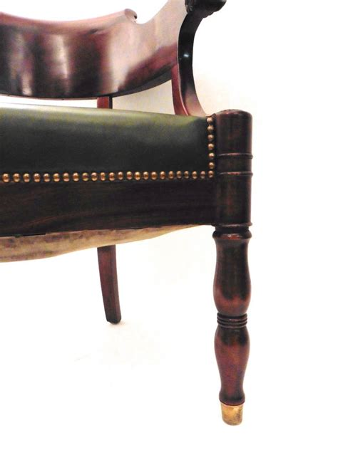 Furniture Chair Desk Empire Style Empire Style Mahogany Tub Desk Chair Circa 1880 At 1stdibs