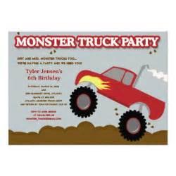truck birthday gray colors 5x7 paper invitation card zazzle