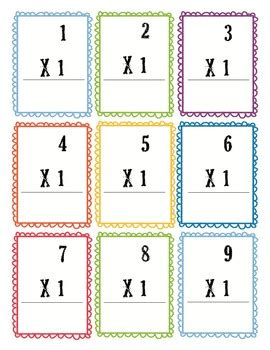 free printable multiplication flash cards up to 12 multiplication flash cards 0 12 free by heather s tpt