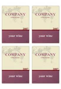 Downloadable Label Templates by Wine Label Template Personilize Your Own Wine Labels