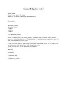 resignation letter format top resignation letter 2 week