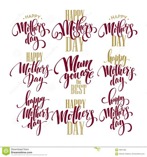 Free Card Caligraphy Template by Mothers Day Vector Greeting Card Calligraphy Lettering
