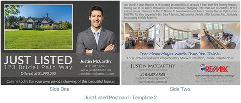 just listed postcard template real estate postcard houssmax