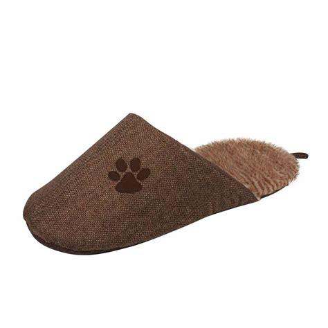 slipper bed pet one size brown slip on fashionable slipper bed