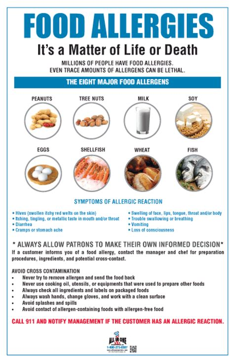 printable allergy poster food allergy