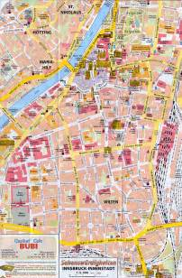 map of citys innsbruck city map