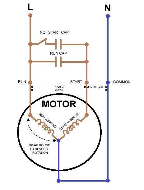 capacitor start capacitor run motor single phase capacitor start capacitor run motor wiring diagram wiring diagram and schematic