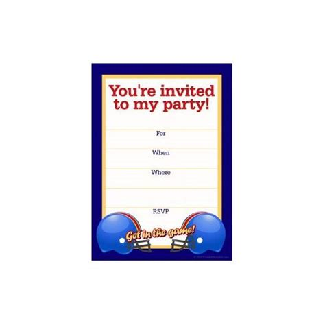 Free Football Party Templates To Download From Online Sources Football Banquet Invitation Template