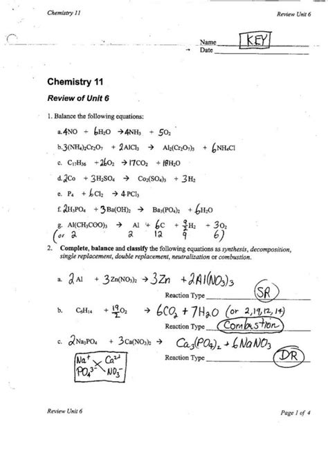 Unit Vi Chem Rxns Ms Beaucage
