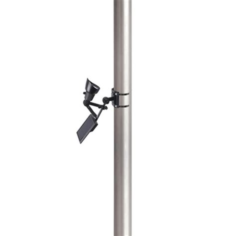 Solar Powered Flagpole Lights Moonrays Solar Powered Led Black Outdoor Flagpole Light