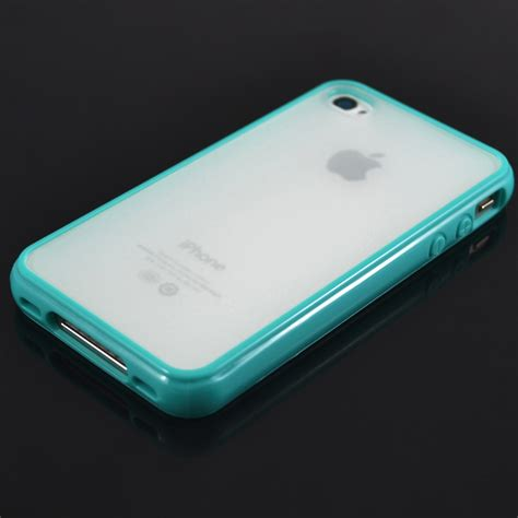 Bumper For Iphone 4gs cool tpu bumper with clear back for apple iphone 4gs 4s 4g 4 6 colors ebay